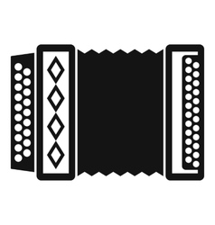 Accordion icon simple style vector