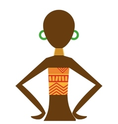 african woman figure icon vector image