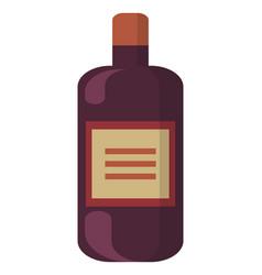 alcohol beverage in bottle celebration vector image