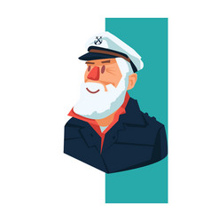 An oldman sailor vector