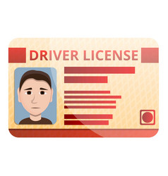 Auto driver license icon cartoon style vector