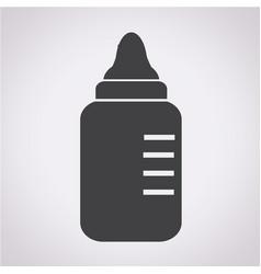 baby milk bottle icon vector image