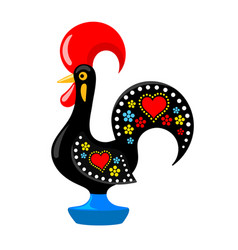 Barcelos portuguese rooster vector