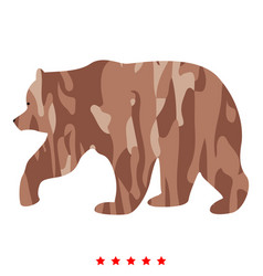 Bear icon color fill style vector