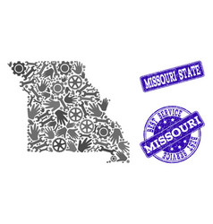 Best service composition of map of missouri state vector