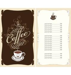 black coffee vector image vector image