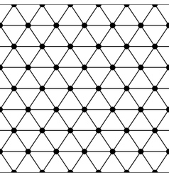 Black white triangles lattice simple seamless vector