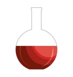 Blood test sample isolated icon vector image