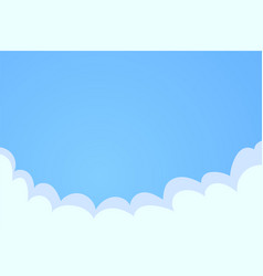 Blue sky with white clouds background cloud on vector