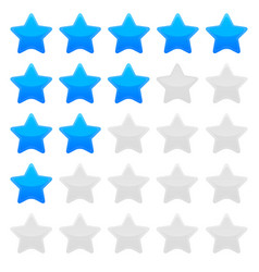 blue star rating graphic vector image