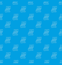 business plan pattern seamless blue vector image