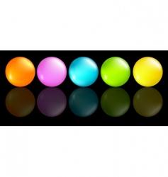 Buttons coloured vector