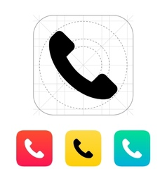 Call answer icon vector