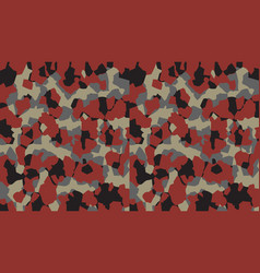 Camouflage pattern background military style vector