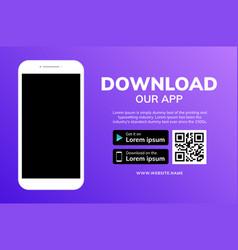 cellphone download app landing page smartphone vector image