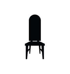 Chair black silhouette one model vector