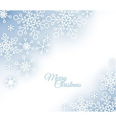 Christmas card with snowflakes on the background vector image