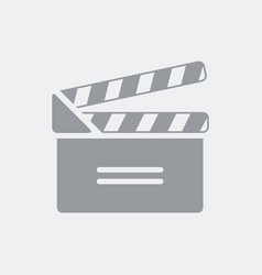 clapboard icon flat clean minimal and isolated vector image