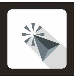 Click cursor arrows icon flat style vector image