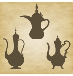 coffee pots jugs Arab vector image