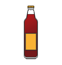 color image cartoon bottle glass of refresh vector image