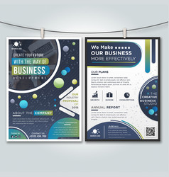 Company profile business brochure vector
