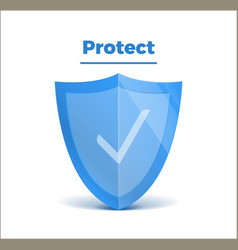 concept 3d shield protected guard presentation vector image