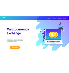 concept on cryptocurrency exchange theme vector image