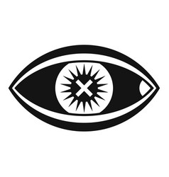 Confuse human eye icon simple style vector