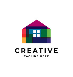 creative house icon logo vector image