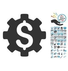 Development Cost Icon With 2017 Year Bonus vector image