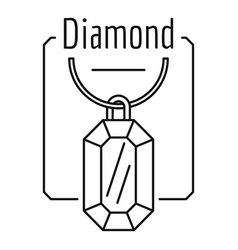 diamond logo outline style vector image