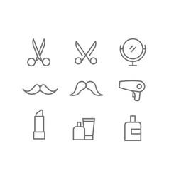 Different beauty salon accessories set elements vector
