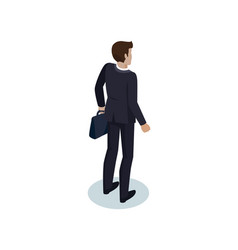 Director businessman workman in formal suit icon vector
