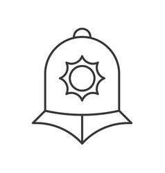 England police helmet police related outline icon vector