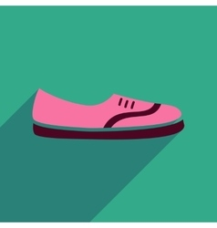 Flat icon with long shadow moccasin shoes vector