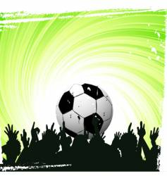 football worship vector image vector image