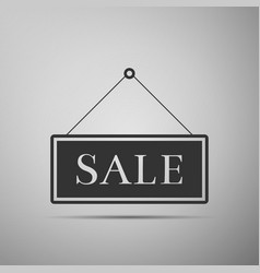 hanging sign with text sale icon vector image