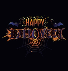 Happy Halloween greeting inscription vector image