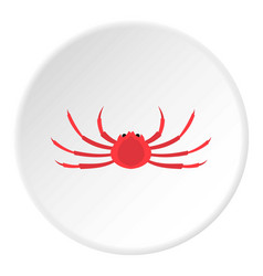 Japanese spider crab icon circle vector