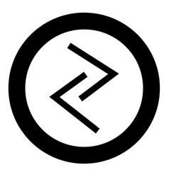 Jera rune year yeild harvest symbol icon black vector