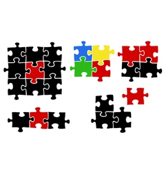 jigsaw puzzle pieces vector image