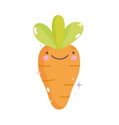 kawaii gardening cartoon cute vegetable fresh vector image