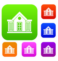 Mansion set collection vector