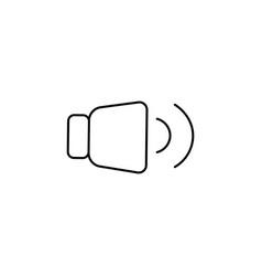 medium level volume icon vector image