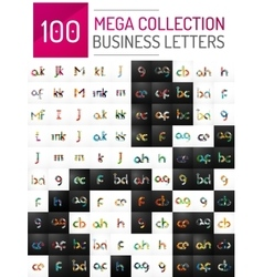 Mega collection of 100 initial letter logo vector image