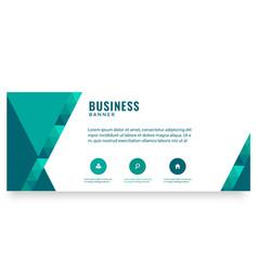 modern green design business banner image vector image