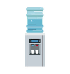 Modern water cooler bottle plastic dispenser vector