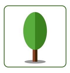 Oak poplar tree icon flat sign vector image