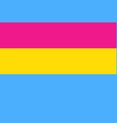 pansexuality pride flag vector image